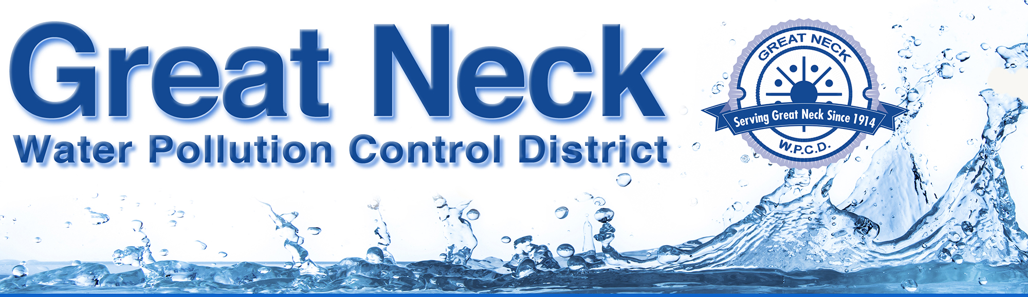Great Neck Water Pollution Control District - Logo and Masthead 100 Year Anniversary